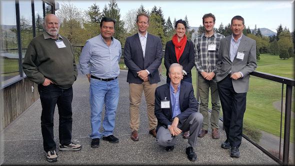 Left to Right: Peter Grant, Leo Lawson, Brendan McShane, Harmony Huffman, Avery Gottfried, Jeff Ainge. Front: Will Burrows. Absent: Anke Bergner, Mark Kurschner.