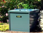 Speedibin composter in a garden